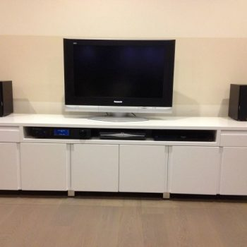 Fitted living room central entertainment unit