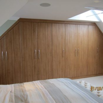 Sherwood fitted wardrobe for angled ceiling