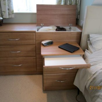 Bedside drawers with laundry box