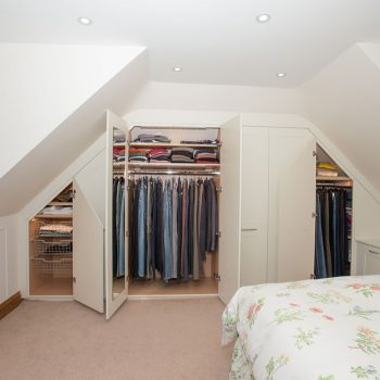 Internal wardrobes for angled ceiling